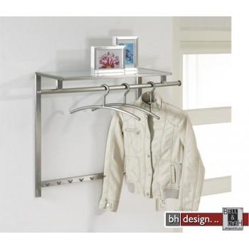 Carry Line Garderobe aus Edelstahl mit Hutablage 90 x 70 cm
