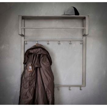 Carry Line Garderobe Stahl, matt  mit Hutablage, 12 Haken  80 x  H 89 cm