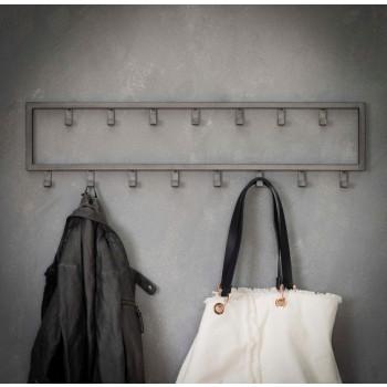 Carry Line Garderobe mit 15 Haken Vintage Look 80 cm x 20 cm