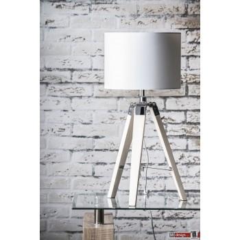 Nature Line Tischlampe  mit Stoff Lampenschirm weiss  66 x 30 cm