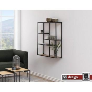 Wandregal Hängeregal Seaford, Wildeiche Melamin, 3 Böden 75 x 20 x H 91 cm