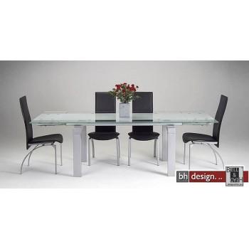 Nathalie Esstisch inkl. 6 Sereno Stühle schwarz