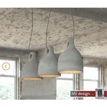 Stone Line Hängelampe 3-er Set  mit Beton  Lampenschirm Lochaufhängung 104 x  H 150 cm