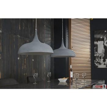 Industrie Line Hängelampe 2-er Set  mit Tropfen Lampenschirmen 140 x  H 150 cm