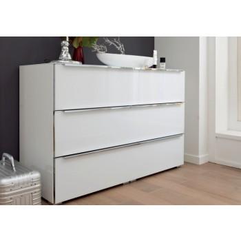 Nolte Möbel Kommode Alegro Style, 120  x 79 cm, 3 Glasschubkästen, in verschiedenen Farben