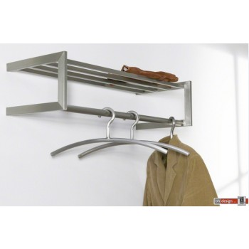 Carry Line Garderobe aus Edelstahl mit Hutablage 80 x 30 cm