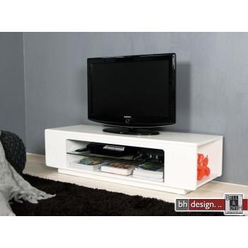 Bax TV-Tisch hochglanz weiss 135 x 45 cm