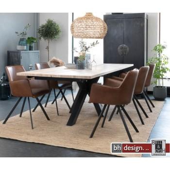 Maison Esstisch by Canett Design,  Eiche weiss geölt  240 x 100 cm, alternativ mit Ansteckplatten