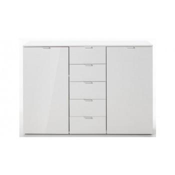 Express Möbel Kommode Carina , 2 Türen 5 Schubkästen, verschiedene Farbvarianten B 140 cm x H 100 cm