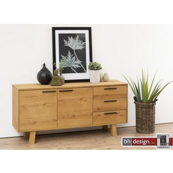 Chara Sideboard Echtholz Furnier  Wildeiche natur geölt 150 x 71 cm