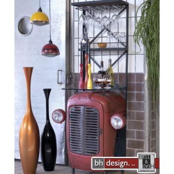 Crazy Regal mit Glasplatte by Canett Design in Traktorform 88 x 54 x  H 183 cm