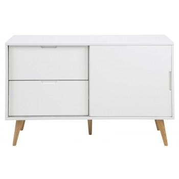 Elise Sideboard weiss hochglanz 131 x 45 x H 83 cm Skandinavien Style