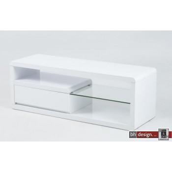 Ero TV-Tisch hochglanz weiss 120 x 39 x H 42 cm