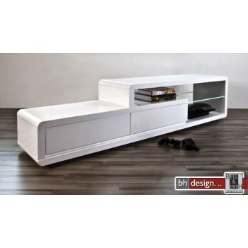 Ero TV-Tisch hochglanz weiss 180 x 39 cm mit LED-Beleuchtung