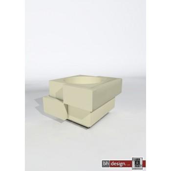 Cubic Yo light Designer Blumentopf in weiß beleuchtet