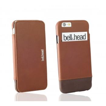"""Echtleder Hülle """"jump"""" für iPhone 6 (S) / iPhone 6 (S) Plus und Galaxy S6 (edge und edge+) cognac-braun"""