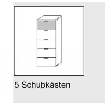 Express Möbel Kommode Navajo, 4 Schubkästen, B 50 cm x H 100 cm