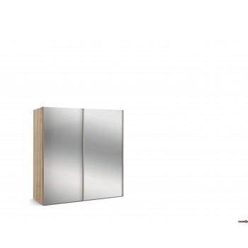 Express Möbel Schwebetürenschrank Budget mit 2 Spiegeltüren, 125 cm bis 200 cm , Höhe 216