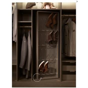 Drehbares Schuhregal für Nolte Schrank Marcato, 48 cm breit für 16 Paar Schuhe