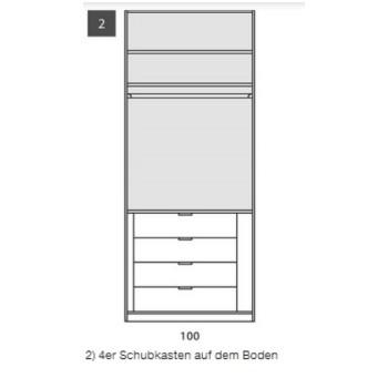 Schubkasteneinsatz  4-er Set für Nolte Schrank Marcato, 100 cm breit