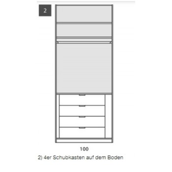 Schubkasteneinsatz  4-er Set für Nolte Schrank Marcato, 50 cm breit