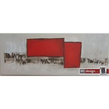 """Einzelgemälde 130 x 50 cm """"Red flag"""""""