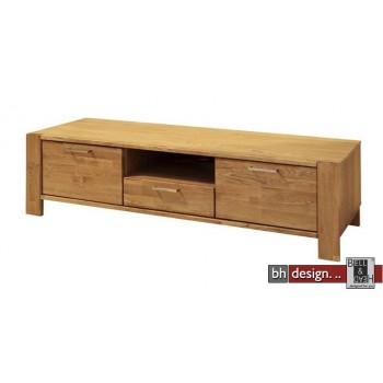 TV Tisch Riva , 2 Türen, 1 Schubkasten, Eiche massiv und  Echtholz Furnier Eiche natur geölt 171 x H 47,5 cm