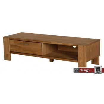 TV Tisch Riva , 1 Tür,  Eiche massiv und  Echtholz Furnier Eiche natur geölt 120 x H 31 cm