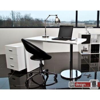Titanium Schreibtisch Hochglanz weiss