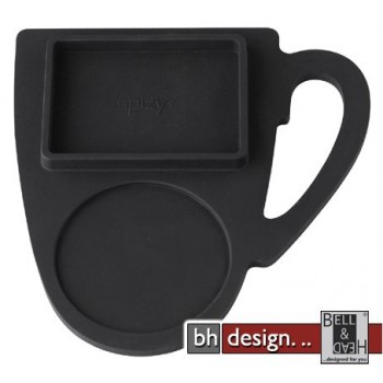 Spizy Silikonuntersetzer 6-Set in schwarz