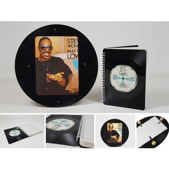 Schallplattenupcycling de Lux: Vinyl Noizbuch und Bilderrahmen aus Ihrer Lieblings LP produziert