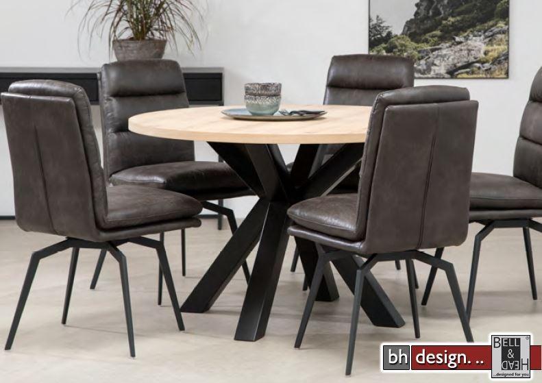 maison esstisch by canett design eiche weiss ge lt 120 cm rund powered by bell head. Black Bedroom Furniture Sets. Home Design Ideas