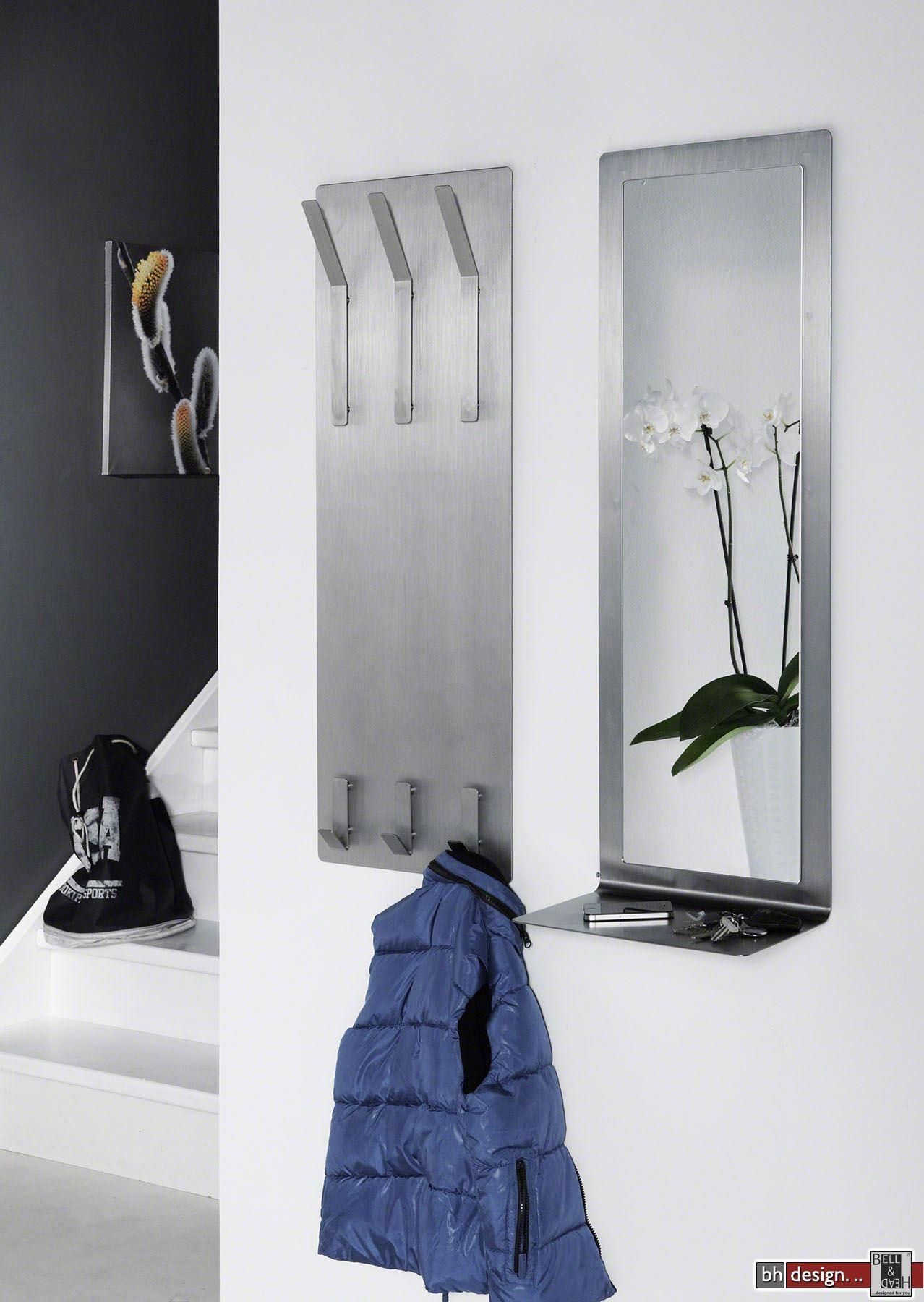 Faszinierend Edelstahl Garderobe Ideen Von Carry Line Mit 6 Haken Gebürstet 36