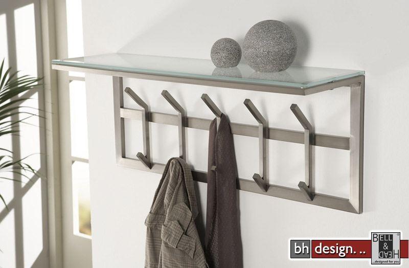 carry line garderobe aus edelstahl und sicherheitsglas mit hutablage 35 x 90 cm powered by bell. Black Bedroom Furniture Sets. Home Design Ideas