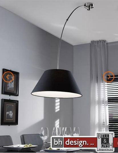 swift deckenleuchte stoffschirm verstellbar von 55 bis 70 cm x 130 cm zijlstra powered by bell. Black Bedroom Furniture Sets. Home Design Ideas