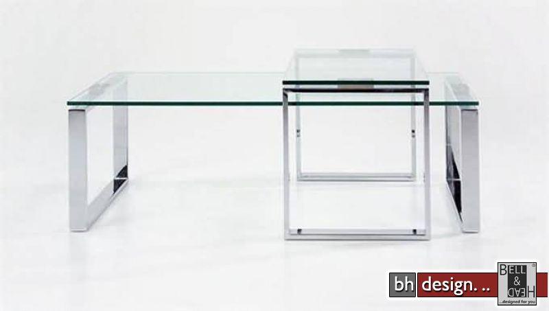 Katrine Couchtisch Glas Chrom Powered By Bell Head Preiswerte