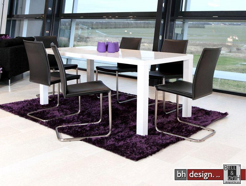space esstisch weiss hochglanz ausziehbar 120 240 cm powered by bell head preiswerte. Black Bedroom Furniture Sets. Home Design Ideas