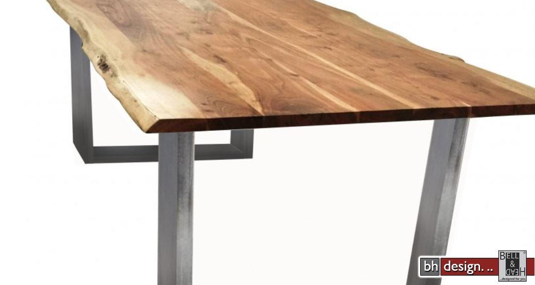 baumstamm esstisch massiv akazienholz 180 x 90 cm powered by bell head preiswerte. Black Bedroom Furniture Sets. Home Design Ideas