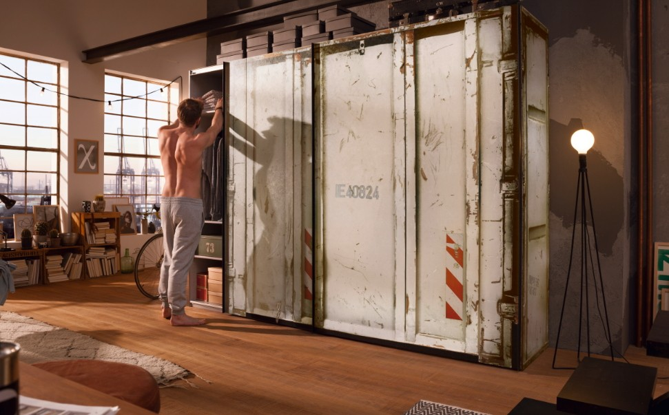 Express Mobel Schwebeturenschrank Cargo Im Container Design Off
