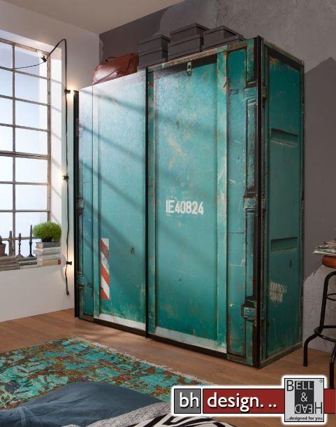 Express Mobel Schwebeturenschrank Cargo Im Container Design 150 Cm