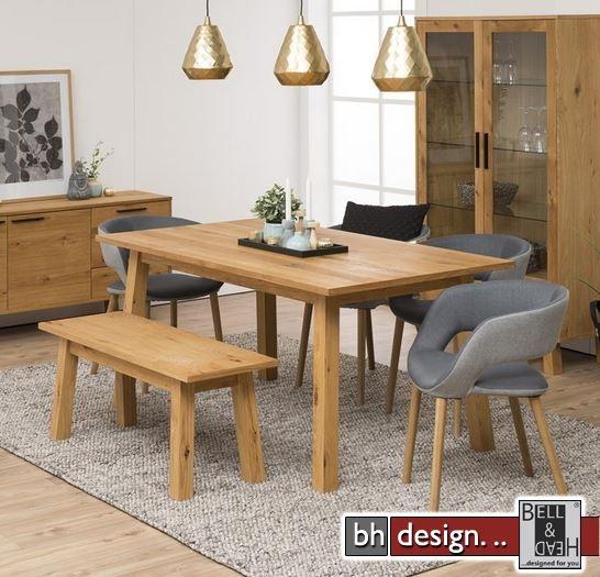 chara esstisch wildeiche echtholzfurnier ge lt 260 250 x 90 cm skandinavischer stil powered by. Black Bedroom Furniture Sets. Home Design Ideas