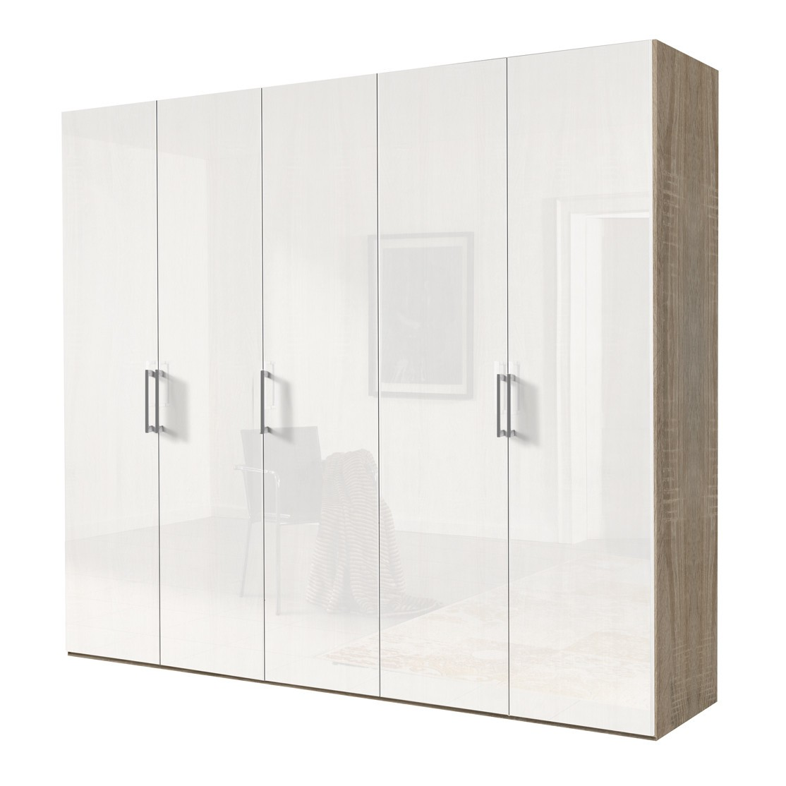 kleiderschrank weiss hochglanz 100 cm. Black Bedroom Furniture Sets. Home Design Ideas