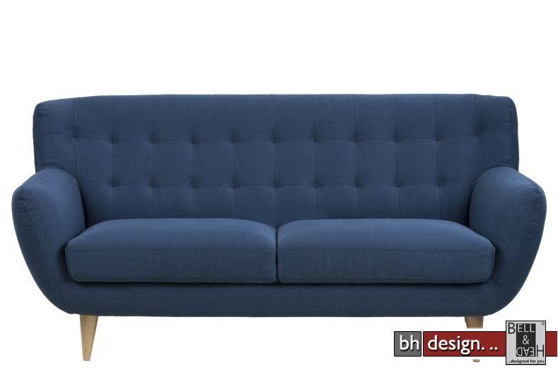 Oswald Retro Sofa 3 Sitzer In Grau Alternativ Blau Powered By Bell