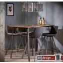 V Style Bartisch, Stehtisch Eiche dunkel im Antiklook 140 x 70 x 92  cm