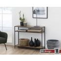 Konsolentisch, Beistelltisch Seaford, Wildeiche Melamin, 100 x 35 x H 79 cm