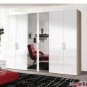 Express Möbel Drehtürenschrank Brooklyn, hochglanz  mt Spiegel,100 cm - 300 cm, Höhe 216 cm o. Höhe 236 cm