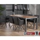 Factory Esstisch Konferenztisch Massiv Sheesham Holz, grained Gestell verwittert ab 180 cm bis 240 cm