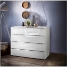 Nolte Möbel Kommode Alegro Style, 80  x 79 cm, 4 Glasschubkästen, in verschiedenen Farben