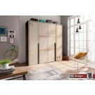 Express Möbel Drehtürenschrank Caja im überdimensionalen KIsten Design, alternativ 100, 150, 200 cm  x H  216 cm