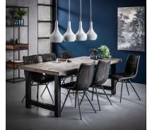 Akasa Esstisch  Multiplex und Massiv Akazienholz verwittert  165 cm, alternativ 200 cm